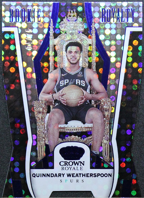 Quinndary Weatherspoon 2019-20 Crown Royale Rookie Royalty Blue 04/75
