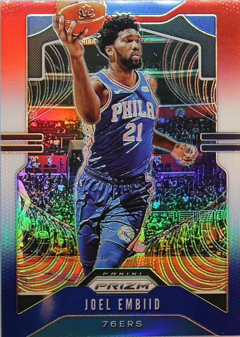 Joel Embiid 2019-20 Prizm Prizms Red White and Blue