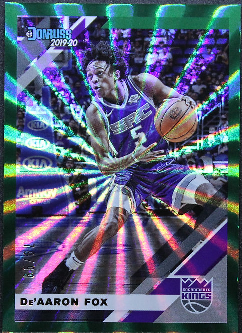 De'Aaron Fox 2019-20 Donruss Green laser 79/99
