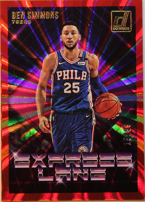 Ben Simmons  2018-19  Express Lane Holo Red Laser 15/99