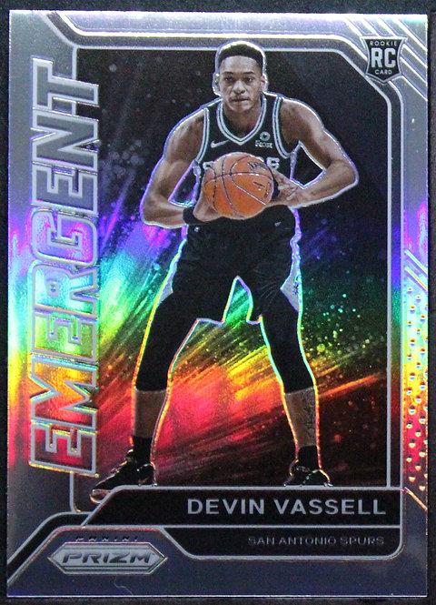 Devin Vassell 2020-21 Prizm Emergent Silver RC