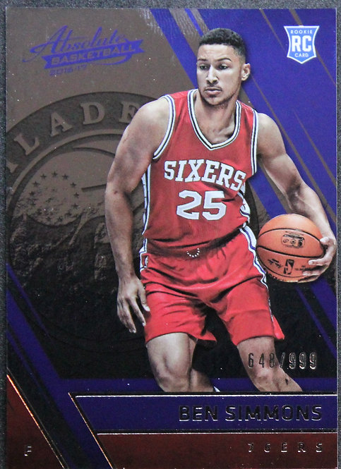 Ben Simmons 2016-17 Absolute Rookie Card 684/999