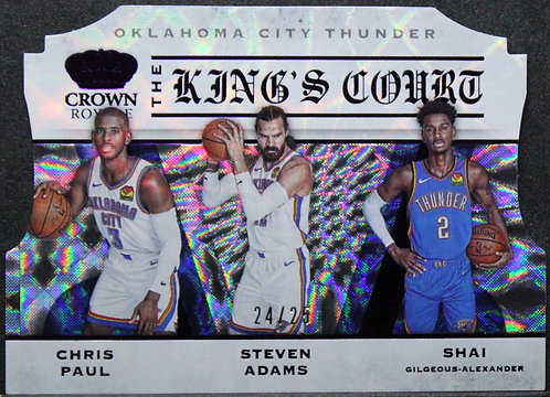 Steven Adams, Chris Paul, SGA 2019-20 Crown Royale The Kings Court 24/25