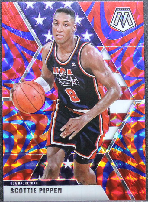 Scottie Pippen 2019-20 Mosaic Blue Reactive