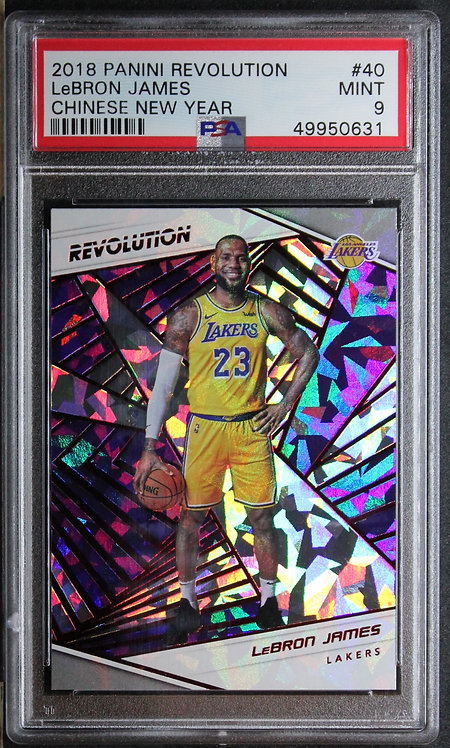 LeBron James 2018-19 Revolution Chinese New Year PSA 9