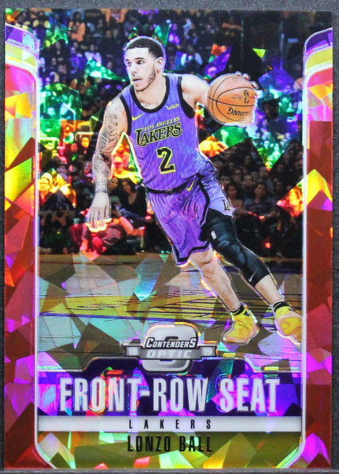 Lonzo Ball 2018-19 Contenders Optic Front Row Seat Red Cracked Ice