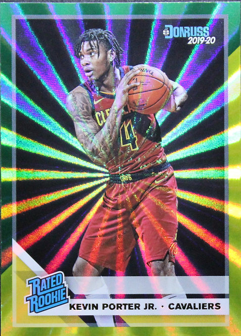 Kevin Porter Jr. 2019-20 Donruss Green & Yellow Laser Rated Rookie