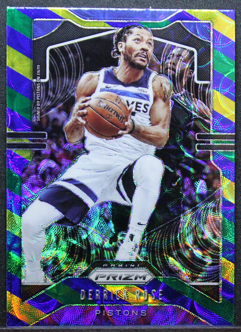 Derrick Rose 2019-20 Prizm Choice Blue Yellow & Green