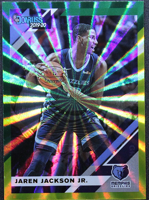 Jaren Jackson Jr. 2019-20 Donruss Green & Yellow Laser