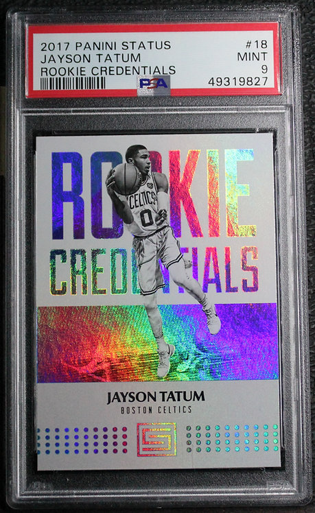 Jayson Tatum 2017-18 Status Rookie Credentials PSA 9