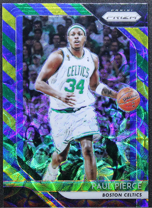 Paul Pierce 2018-19 Prizms Blue Yellow & Green