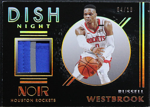Russell Westbrook 2019-20 Noir Dish Nights 04/10