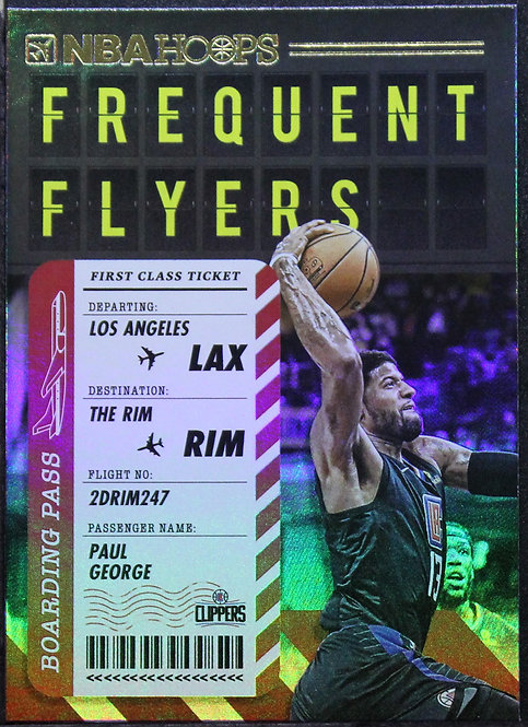 Paul George 2020-21 NBA Hoops Frequent Flyers Holo