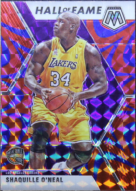 Shaquille O'Neal 2019-20 Mosaic Blue Reactive Hall Of Fame