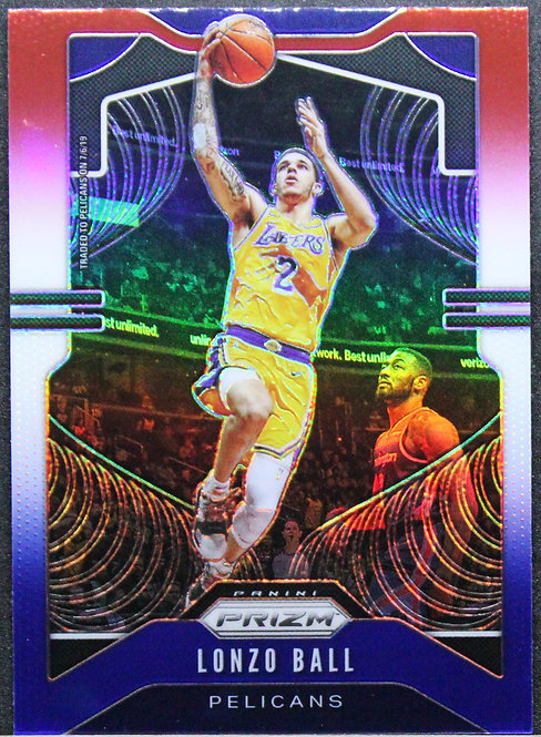 Lonzo Ball 2019-20 Prizm Red White & Blue