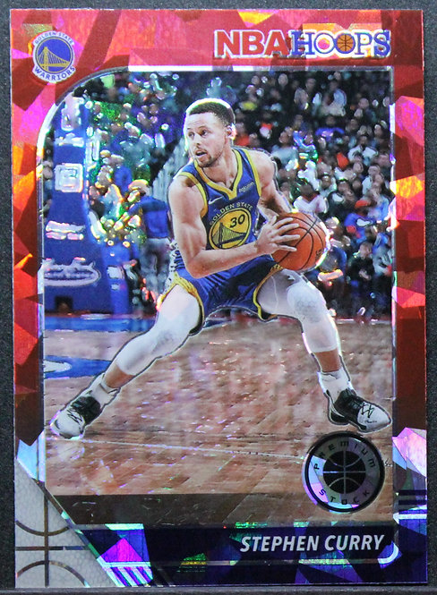 Stephen Curry 2019-20 Hoops Premium Red Cracked Ice