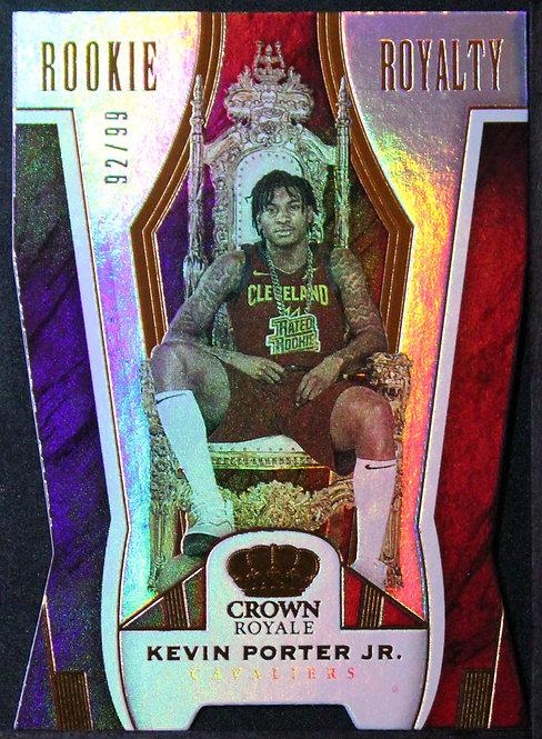 Kevin Porter Jr. 2019-20 Crown Royale Rookie Royalty /99