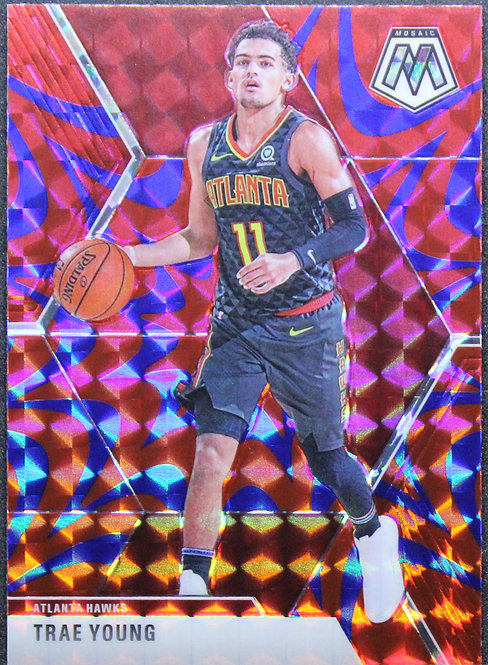 Trae Young 2019-20 Mosaic Blue Reactive