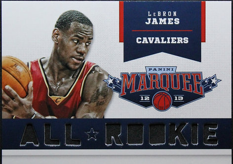 LeBron James 2012-13 Marquee All-Rooie Team Laser Cut