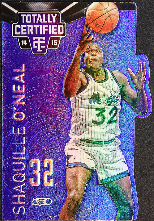 Shaquille O'Neal 2014-15 Totally Certified Platinum Mirror Blue Die Cut 36/74