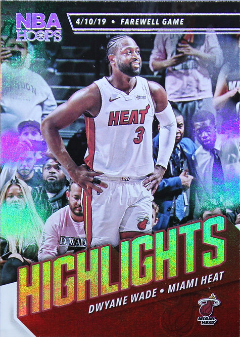 Dwyane Wade 2019-20 NBA Hoops Highlights Farewell Game