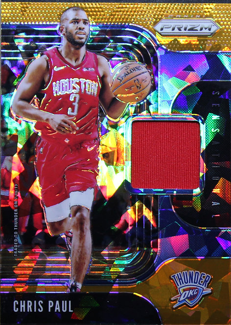 Chris Paul 2019-20 Prizm Sensational Swatches Orange Ice