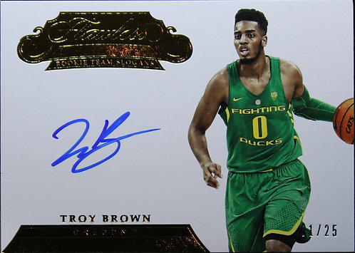 Troy Brown Jr. 2018 Flawless Collegiate Auto 01/25