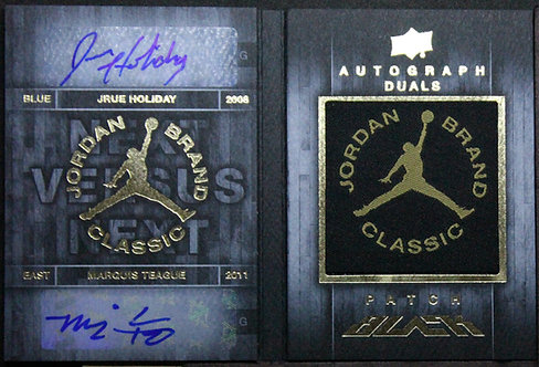 Jrue Holiday/Marquis Teague 2013-14 UD Black Jordan Brand Classic Dual Auto /45