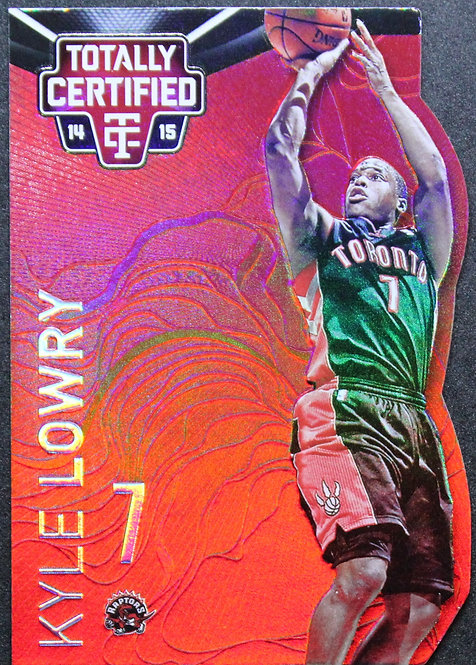 Kyle Lowry 2014-15 Totally Certified Platinum Mirror Red Die Cuts 4/135