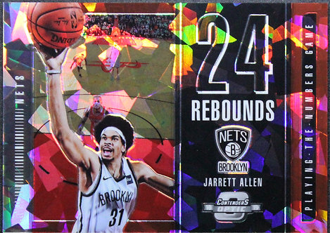 Jarrett Allen 2018-19 Contenders Optic Playing the Numbers Game Red Cracked Ice