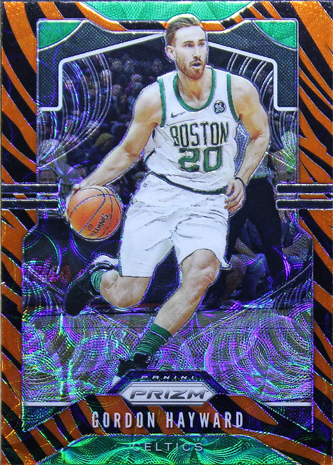 Gordon Hayward 2019-20 Prizms Choice Tiger Stripe