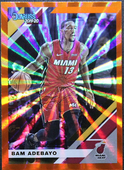Bam Adebayo 2019-20 Donruss Orange Laser