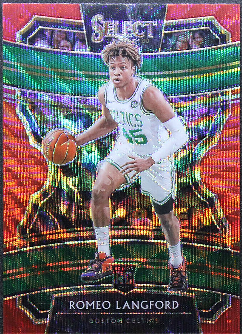Romeo Langford 2019-20 Select Prizms Concourse Red Wave RC