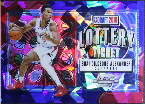 Shai Gilgeous-Alexander 2018-19 Contenders Optic Lottery Ticket Blue Cracked Ice