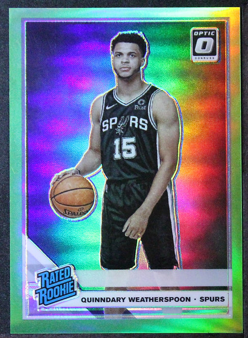 Quinndary Weatherspoon 2019-20 Optic Rated Rookie Lime Green / 149