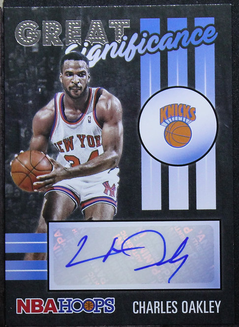 Charles Oakley 2020-21 NBA Hoops Great Significance Auto