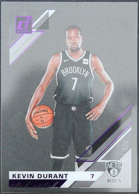 Kevin Durant 2019-20 Clearly Donruss Purple