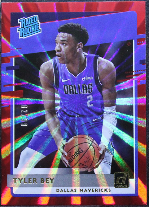 Tyler Bey 2020-21 Rated Rookie Red Laser 2/99