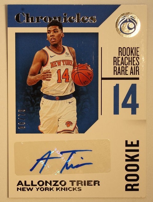 Alonzo Trier 2018/19 Panini Chronicles Rookie Signatures 06/75