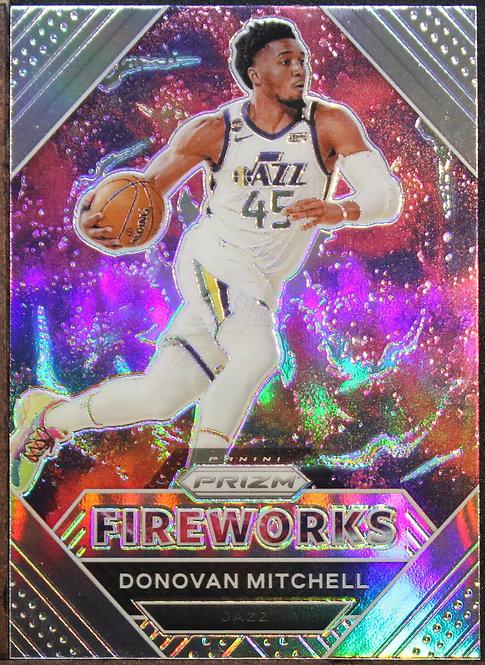 Donovan Mitchell 2020-21 Prizm Fireworks Silver