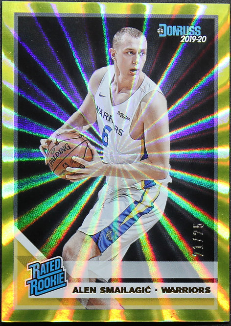 Alen Smailagic 2019-20 Optic Rated rookie Yellow Laser 21/25