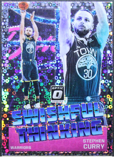Stephen Curry 2018-19 Optic Shwishful Thinking Fast Break Silver
