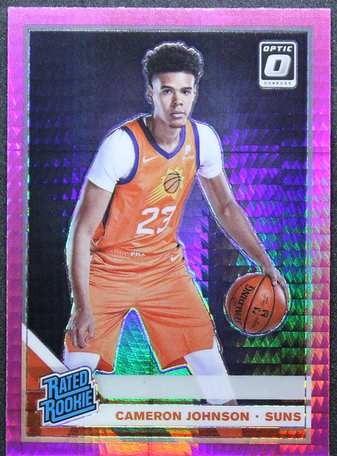 Cameron Johnson 2019-20 Optic Rated Rookie Hyper Pink