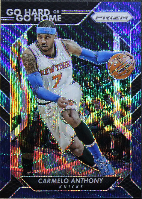 Carmelo Anthony 2016-17 Prizms Go hard or Go Home Blue Wave 40/99