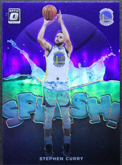 Stephen Curry 2019-20 Optic Splash! Purple