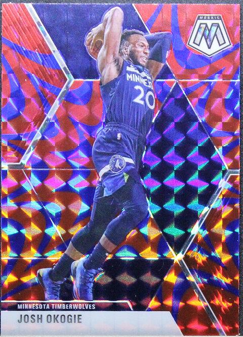 Josh Okogie 2019-20 Mosaic Blue Reactive