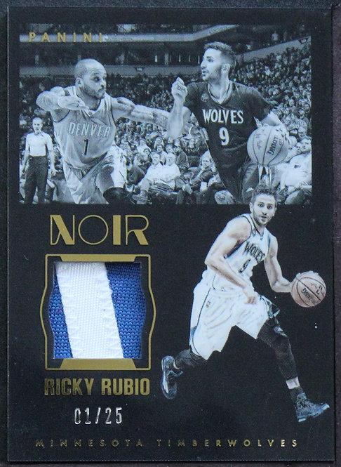 Ricky Rubio 2015-16 Noir Acetate Materials Prime /25