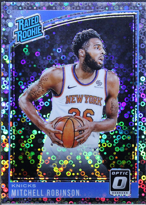 Mitchell Robinson 2018-19 Optic Rated Rookie Fast Break Silver