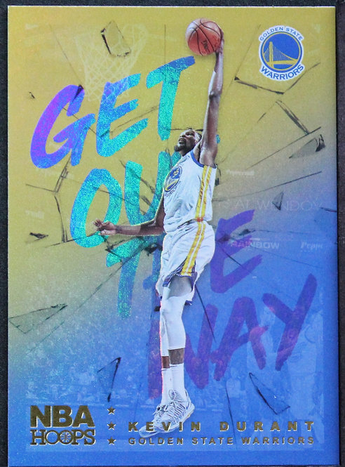 Kevin Durant 2018-19 Hoops Get out the Way Holo