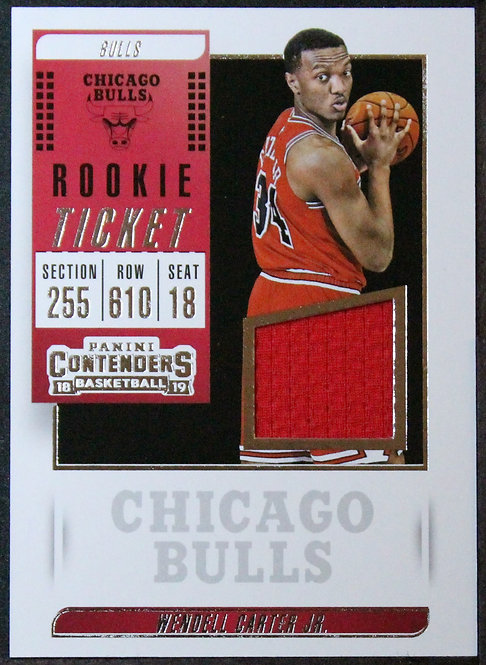 Wendell Carter Jr. 2018-19 Contenders Rookie Ticket Swatches